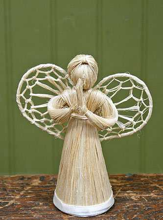 Abaca Straw Cone Angel Doll Trees And Toppers