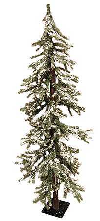 Primitive Christmas Tree.7 Ft Frosted Skinny Alpine Tree Country Primitive Christmas