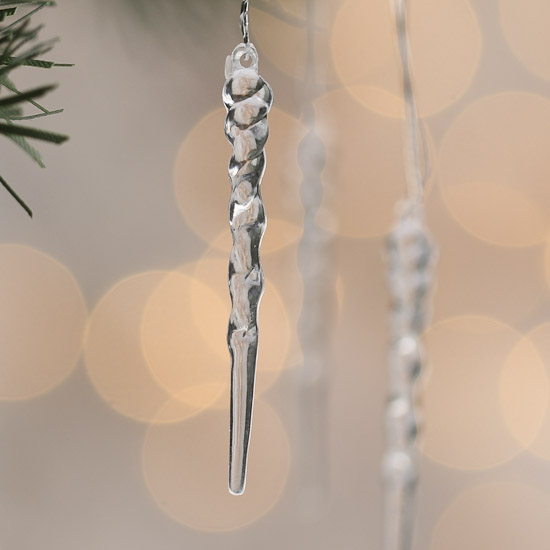 Mini Clear Icicle Ornaments Christmas Ornaments Christmas And Winter Holiday Crafts Factory Direct Craft