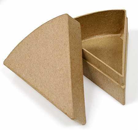 4 1 2 Quot Paper Mache Favor Cake Slice Box Paper Mache