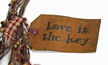 Primitive Berries Quot Love Is The Key Quot Hearts And Keys