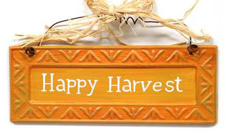 "Happy Harvest"" Embossed Metal Fall Sign - Fall and Halloween ..."