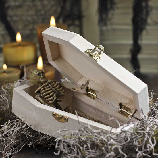 unfinished wood coffin halloween holiday crafts