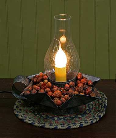 Galvanized Tin Electric Candle Lamp Lighting Home Decor