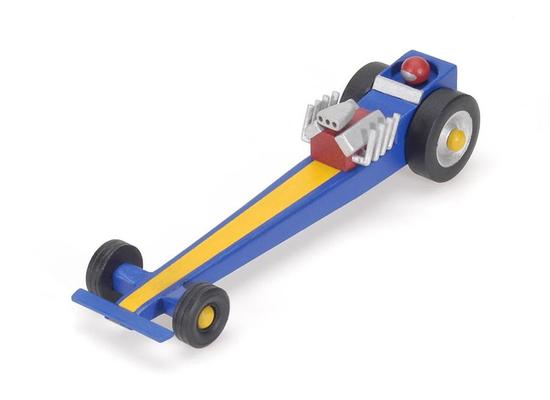 Unfinished Wooden Model Drag Racer Car Kit - Makes 1 Car