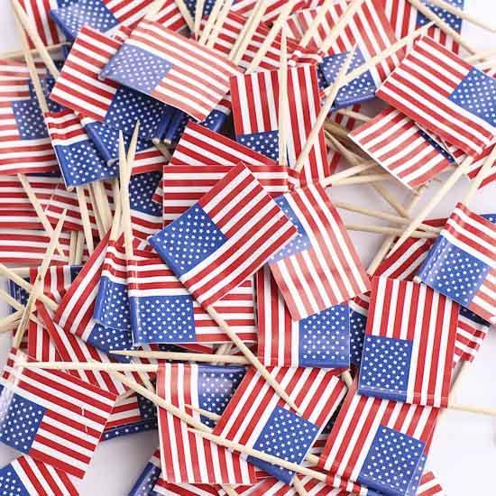 american flag toothpicks - americana