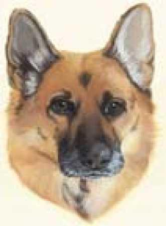 German Shepherd Metal Dog Ornament - Wall Decor - Home Decor