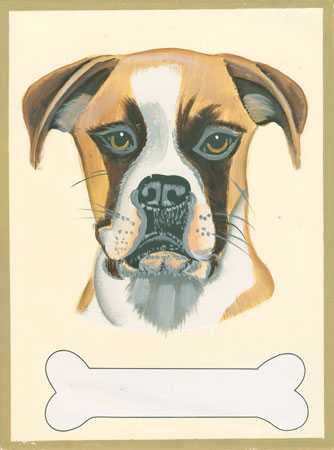 Boxer Dog Plaque w/ Space to Personalize - Wall Decor - Home Decor