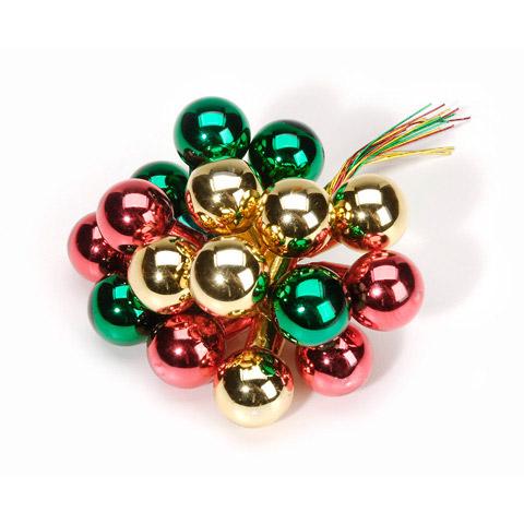 Christmas Color Mini Glass Ball Ornament Picks - Christmas ...