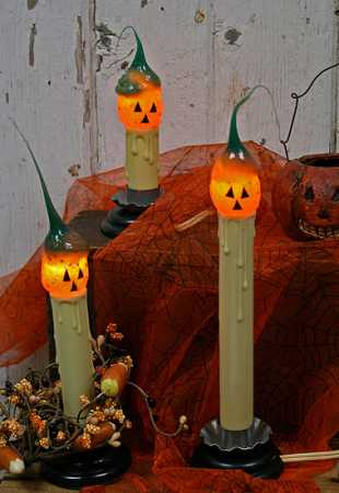 Silicone Dipped Primitive Pumpkin Light Bulb Lighting