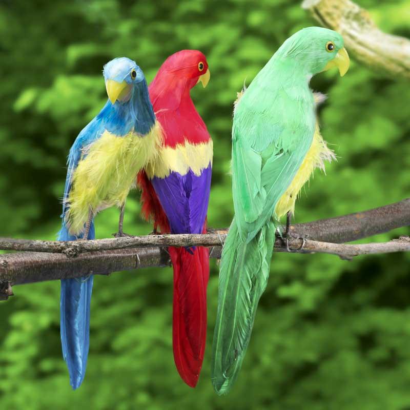 artificial macaw parrot birds butterflies basic craft supplies