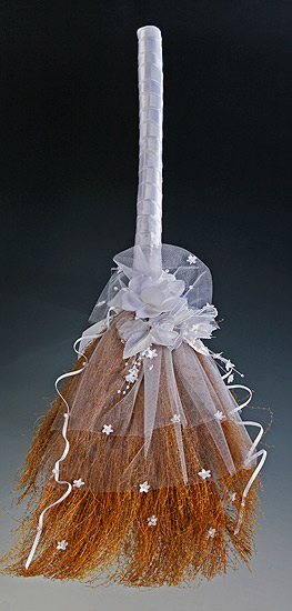 32 decorated wedding jump broom brooms shovels for Straw brooms for crafts
