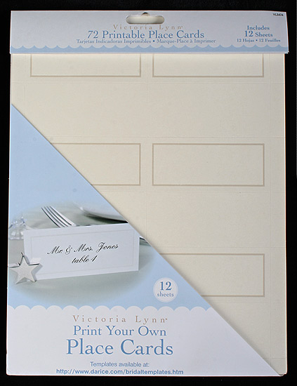 72 print your own ivory placecards placecards place
