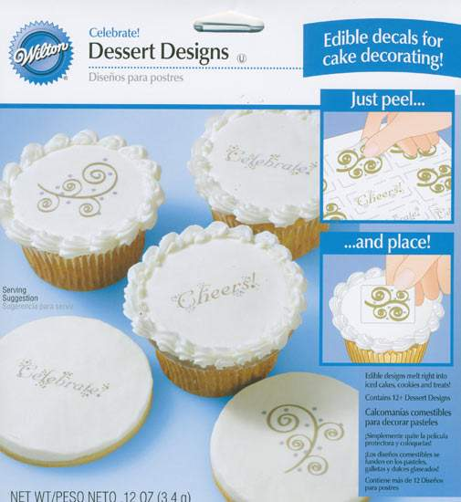 Celebrate Edible Decals for Cake Decorating - Wedding Cake ...