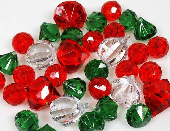 assorted plastic gems crafts
