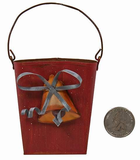 Primitive rusty tin christmas wall pockets