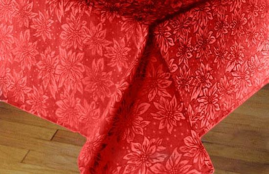 Red Christmas Table Runner