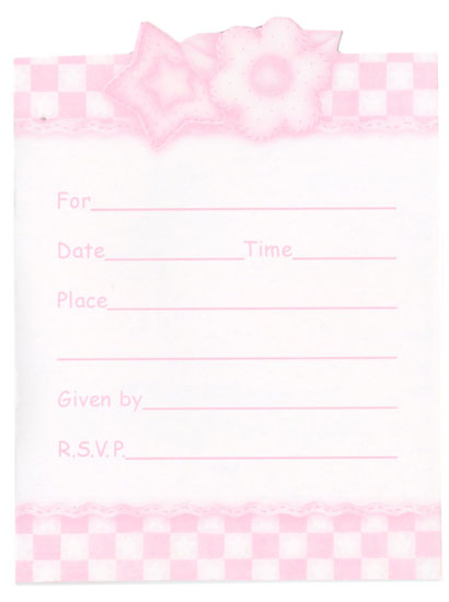 Baby Girl Shower Quilt Party Invitation Cards 8 ct Its a – Party Invitations Cards