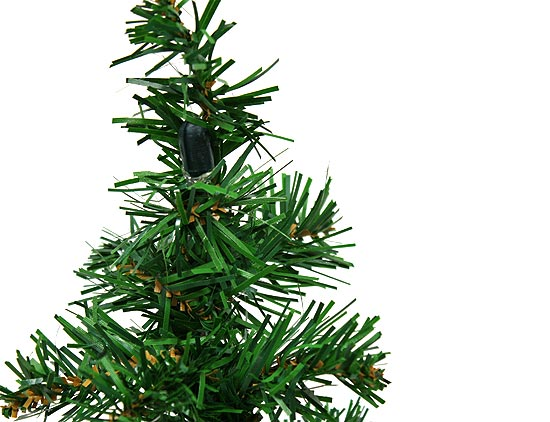 """16"""" Mini Artificial Pine Christmas Tree With Wire Base"""