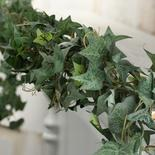 Flocked Chain Link Artificial Ivy Garland