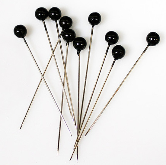 Black Corsage Pins Pins Amp Magnets Basic Craft Supplies
