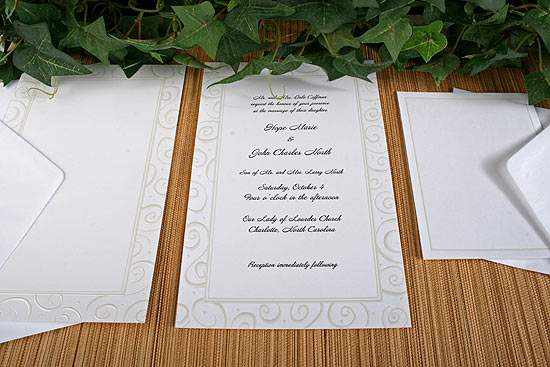 Embossed Swirl 50 Count Wedding Invitation Kit Anniversary 25th