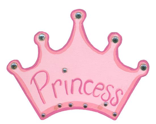 Unfinished Wood Princess Crown Cutout Cinderella Fairy