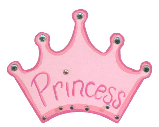Unfinished wood princess crown cutout wood cutouts for Baby shower decoration cutouts