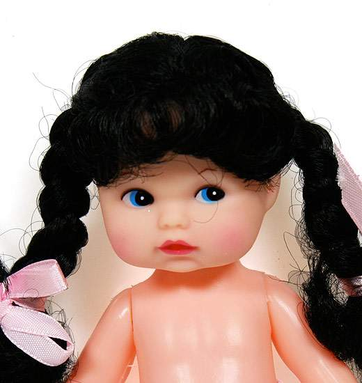 6 3 4 Quot Fibre Craft Cindy Baby Doll With Black Braids