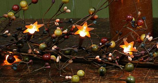 primitive cinnamon color pop on mini silicone star light covers lighting primitive decor