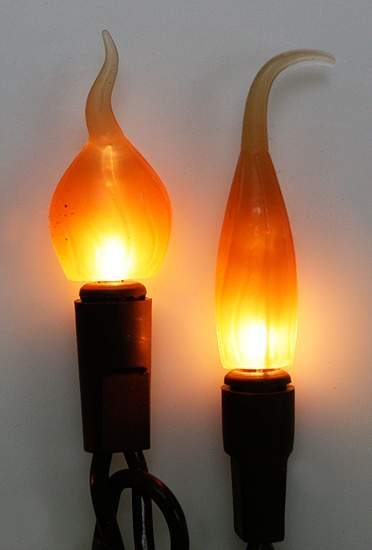 20ct primitive brown cord light with silicone flame tip