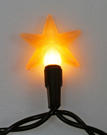 Electric Star String Lights : Primitive Electric Lights with 10 Mini Silicone Stars - String Lights - Lights /Lamp Kits