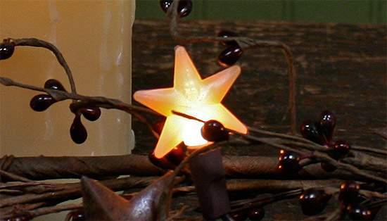 Primitive Electric Lights with 10 Mini Silicone Stars ...