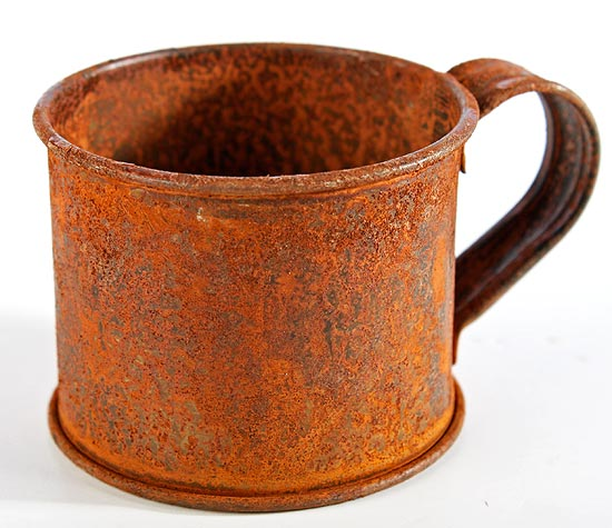 3aa75dd6db5 Primitive Rusty Tin Mug - Candles and Accessories - Primitive Decor