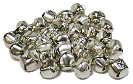 3 4 silver metal jingle bells bells basic craft supplies