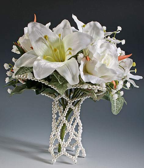 wedding bouquet holders pearl bouquet holder handle sleeve wedding florals 8461