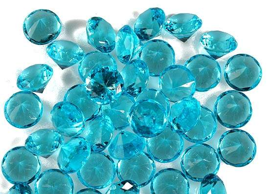 Turquoise Acrylic Diamonds Confetti Table Scatters Party