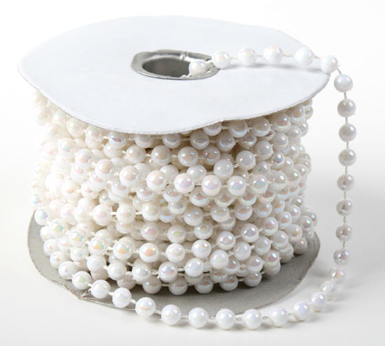 Iridescent White Fused String Pearl Beads - Pearl Spools ...