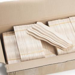 Wholesale Bulk Case Of Unfinished Wavy Wood Fan Sticks