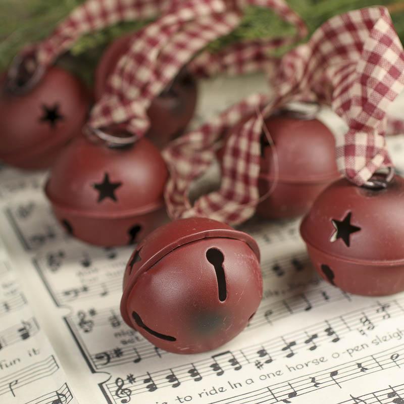 large rustic burgundy sleigh bells garland christmas garlands