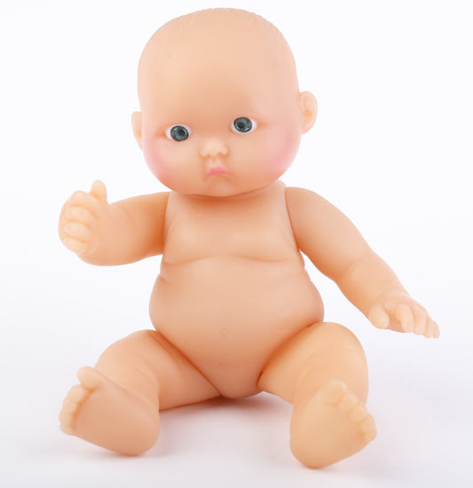 soft vinyl sweet cheek pouting baby doll plastic and