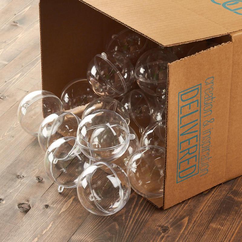 bulk 80mm fillable keepsake ball ornaments