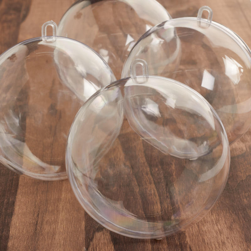 Bulk 100mm Acrylic Fillable Keepsake Ball Ornaments - Acrylic ...
