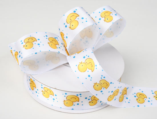 details about baby shower gender neutral yellow rubber duck ribbon