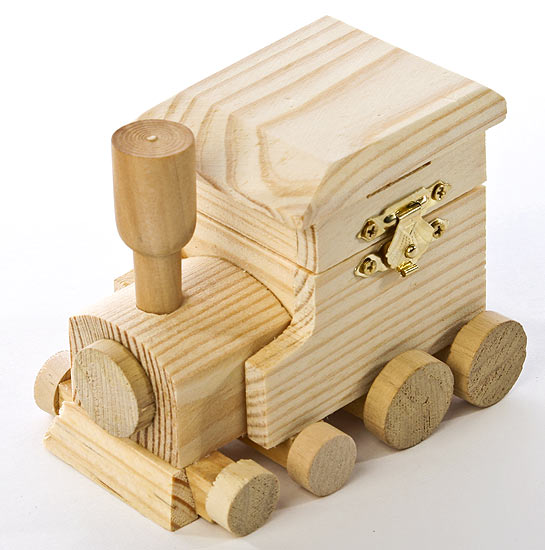 Unfinished wood train box doll accessories doll making for Unfinished wooden boxes for crafts