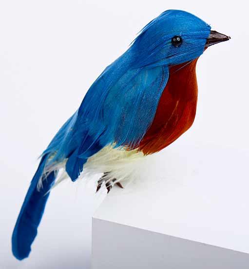 bird/'s doll- female figure of beautiful American bird Christmas Gift Xmas Tree Decor Felt bird- The eastern bluebird Sialia sialis