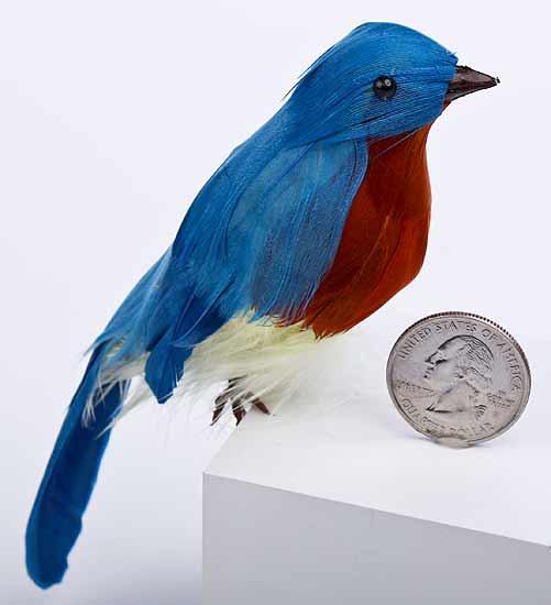 Eastern artificial blue birds birds butterflies for Fake birds for crafts