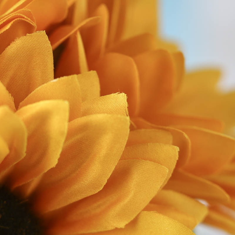 wedding cake cupcake golden yellow artificial sunflower bouquet fall florals 22287