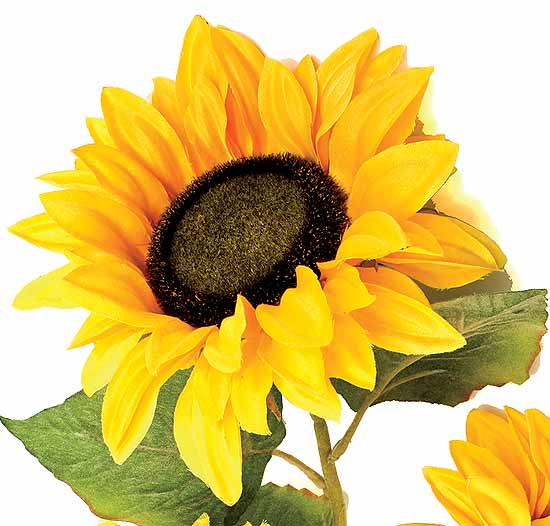 34 Artificial Silk Giant Golden Sunflower Bush