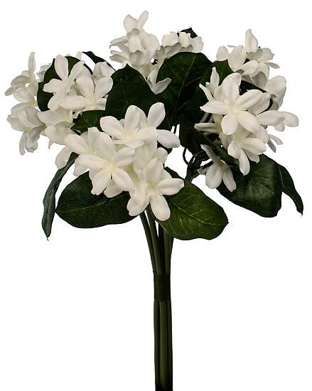 16 12 white stephanotis silk floral stem bunch bushes and click here for a larger view mightylinksfo